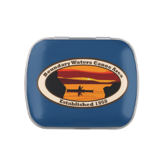 Emblema de BWCA con la canoa Frascos De Dulces