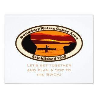 Emblema de BWCA con la canoa Invitación 10,8 X 13,9 Cm