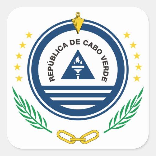 emblema de Cabo Verde Calcomania Cuadradas Personalizada