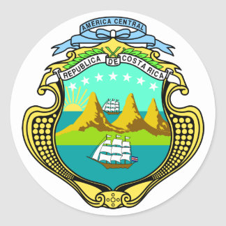emblema de Costa Rica Pegatina Redonda