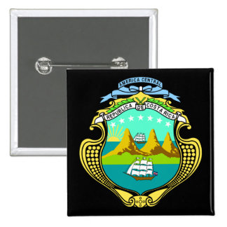 emblema de Costa Rica Pin Cuadrado