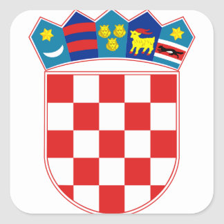 emblema de Croacia Pegatina Cuadrada
