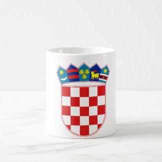 emblema de Croacia Taza De Café