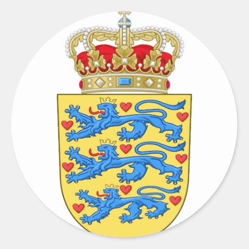 emblema de Dinamarca Pegatina