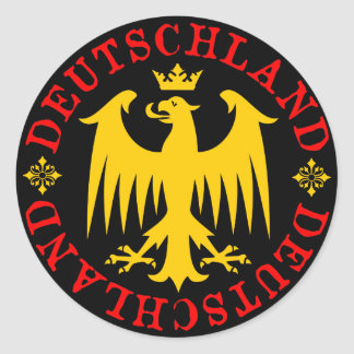 Emblema de Eagle del alemán de Deutschland Pegatina Redonda