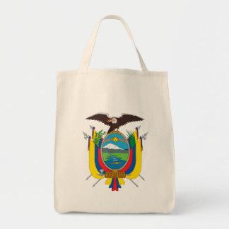 emblema de Ecuador Bolsa Tela Para La Compra
