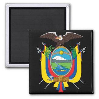 emblema de Ecuador Imán Cuadrado