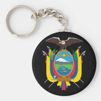 emblema de Ecuador Llavero Redondo Tipo Pin