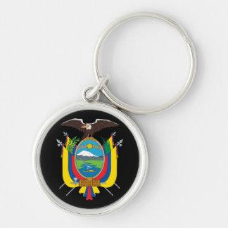 emblema de Ecuador Llavero Redondo Plateado