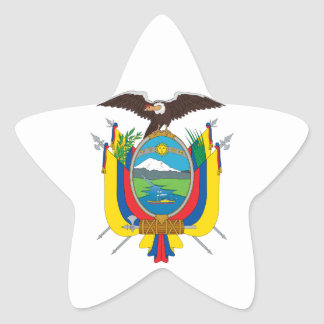 emblema de Ecuador Pegatina En Forma De Estrella
