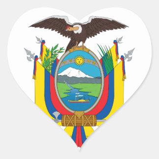emblema de Ecuador Pegatina En Forma De Corazón