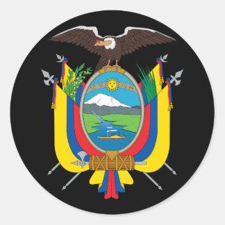 emblema de Ecuador Pegatina Redonda