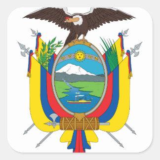 emblema de Ecuador Pegatina Cuadrada