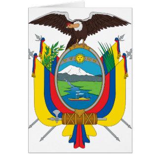 emblema de Ecuador Tarjeta De Felicitación