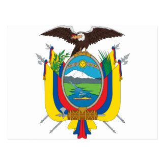 emblema de Ecuador Tarjeta Postal