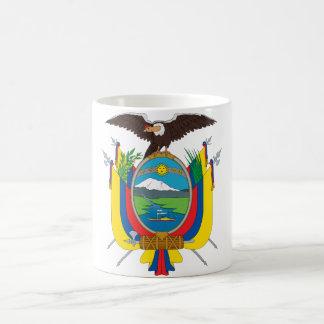 emblema de Ecuador Taza Básica Blanca