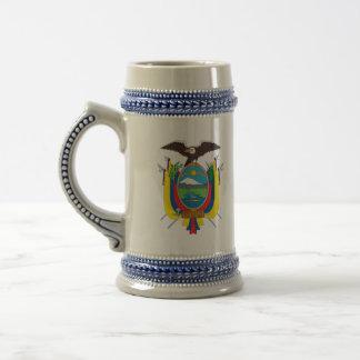 emblema de Ecuador Jarra De Cerveza