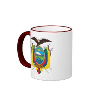 emblema de Ecuador Taza A Dos Colores