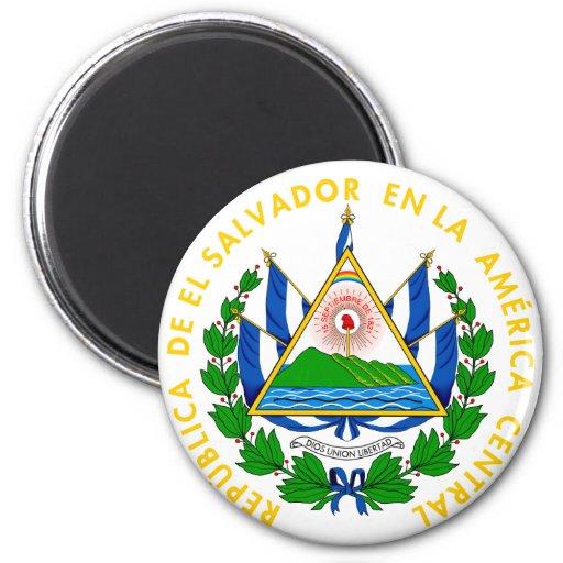 emblema de El Salvador Imán Redondo 5 Cm