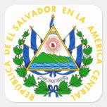 emblema de El Salvador Pegatina Cuadrada
