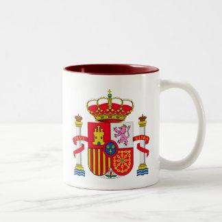 Emblema de España Taza De Dos Tonos