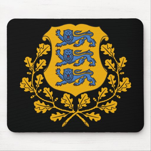emblema de Estonia Alfombrillas De Ratón