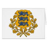 emblema de Estonia Felicitacion