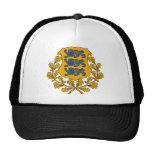 emblema de Estonia Gorros Bordados