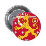 emblema de Finlandia Pin Redondo 5 Cm