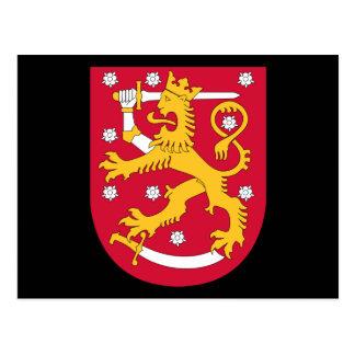 emblema de Finlandia Tarjeta Postal