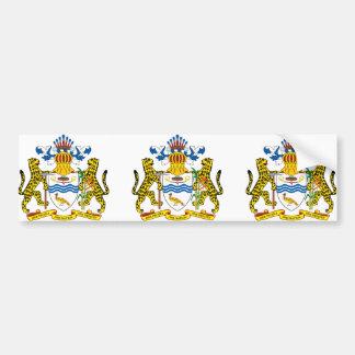emblema de Guyana Etiqueta De Parachoque