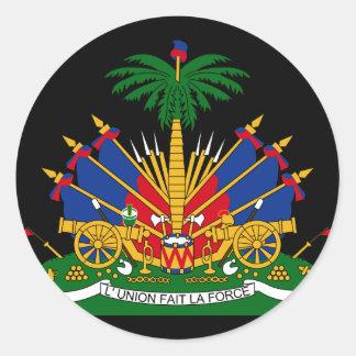 emblema de Haití Pegatina Redonda