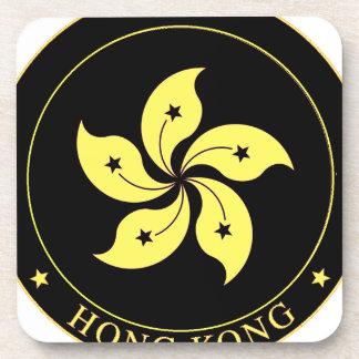 Emblema de Hong Kong - 香港特別行政區區徽 Posavasos De Bebidas