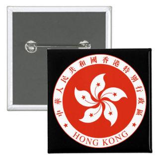 emblema de Hong-Kong Pin Cuadrado