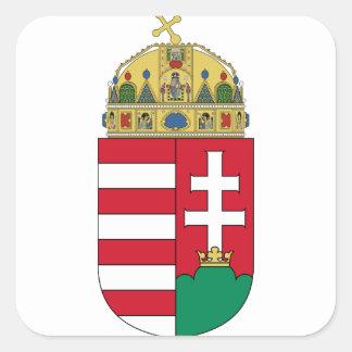emblema de Hungría Pegatina Cuadradas Personalizada