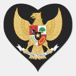 emblema de Indonesia Calcomanía De Corazón
