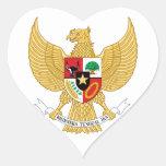 emblema de Indonesia Calcomanías Corazones