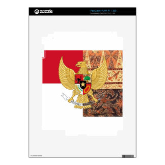 Emblema de Indonesia - la bandera del batik de Calcomanías Para El iPad 2
