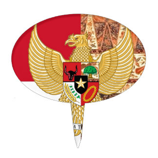 Emblema de Indonesia - la bandera del batik de Figuras De Tarta
