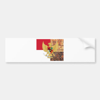 Emblema de Indonesia - la bandera del batik de Pegatina Para Auto