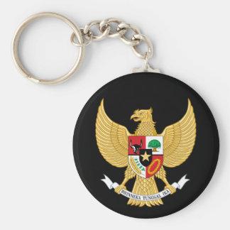 emblema de Indonesia Llavero Redondo Tipo Pin
