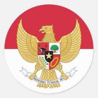 emblema de Indonesia Pegatina Redonda