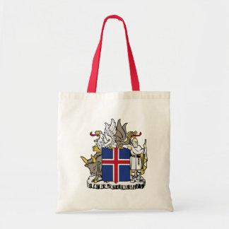 emblema de Islandia Bolsas De Mano