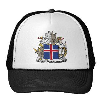 emblema de Islandia Gorras