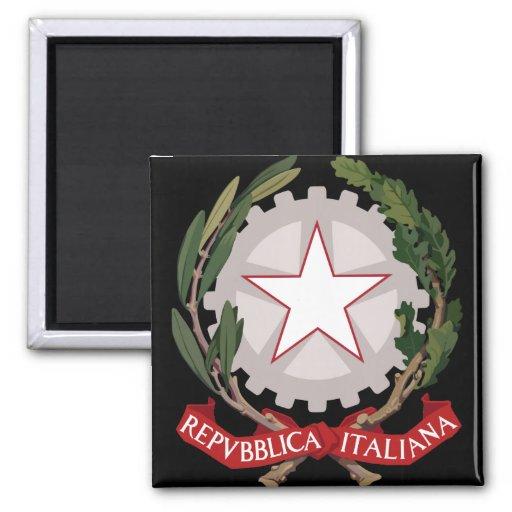 emblema de Italia Imán Cuadrado