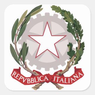 emblema de Italia Calcomanía Cuadradas Personalizadas