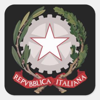 emblema de Italia Colcomanias Cuadradas
