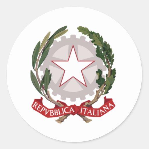 Emblema de Italia Pegatina Redonda
