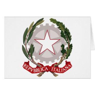emblema de Italia Tarjetón