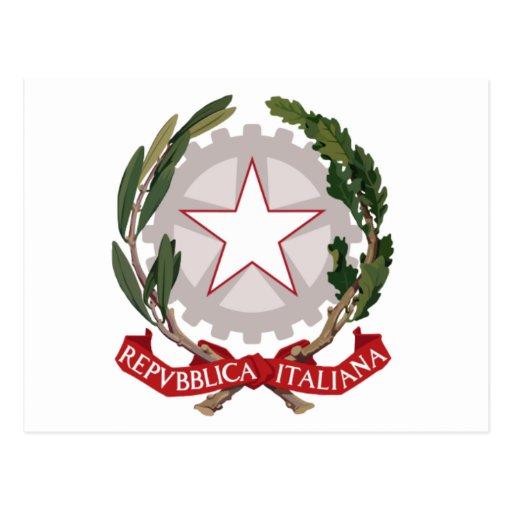 Emblema de Italia Tarjeta Postal